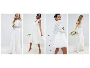 omnilytics bridal wedding dress lace chiffon tulle asos